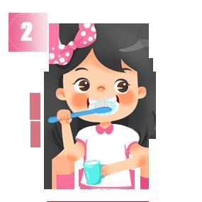 Chải mặt ngoài răng theo chiều dọc