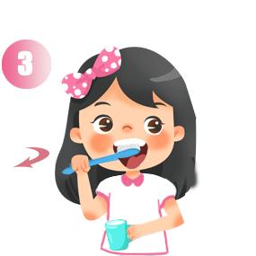 Chải mặt trong răng hàm trên