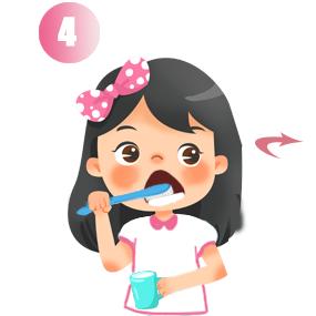 Chải mặt trong răng hàm dưới