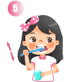 Chải mặt nhai răng hàm trên