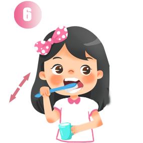 Chải mặt nhai răng hàm dưới