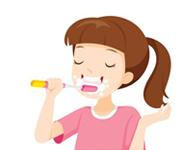 Bước 3: Chải răng