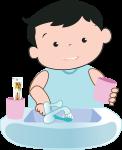 Bước 5: Rửa sạch bàn chải