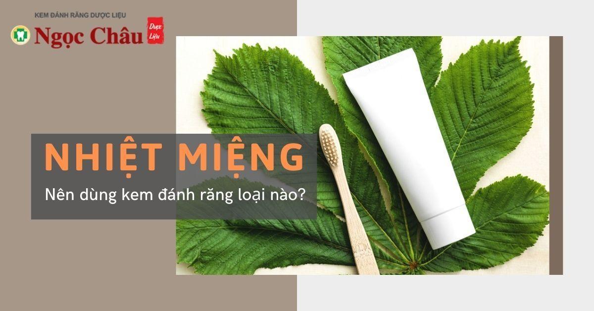 5 loại kem đánh răng thảo dược an toàn, phù hợp cho những người đang bị nhiệt miệng