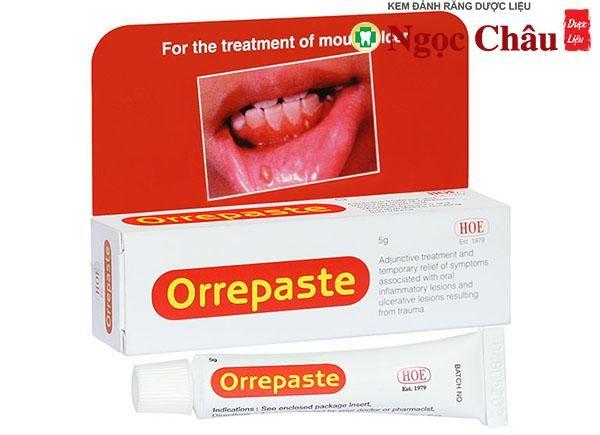 Thuốc bôi nhiệt miệng loét miệng Orrepaste