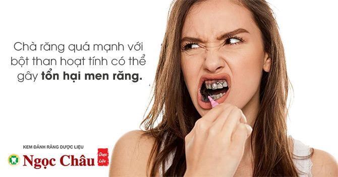 Làm trắng răng bằng than hoạt tính có ảnh hưởng gì không?
