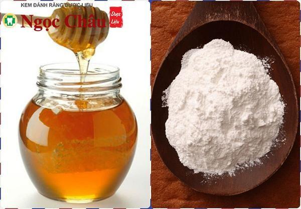 Sử dụng mật ong và baking soda để cải thiện màu men răng