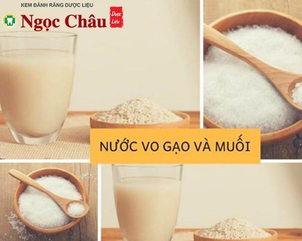 Cách làm trắng răng bằng nước vo gạo kết hợp với muối