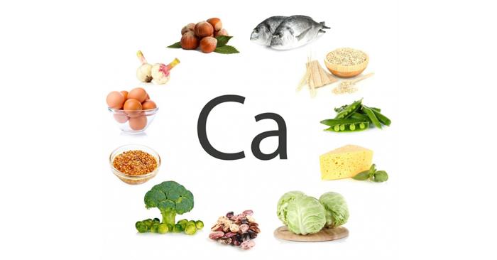 Canxi có nhiều trong hải sản, trứng, sữa, thịt gà, cà rốt, cải bó xôi, đậu tương….