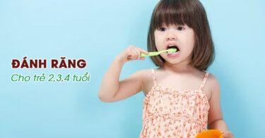 Cách đánh răng cho trẻ 2 tuổi đúng cách