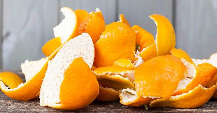 Trong vỏ cam có chứa nhiều vitamin C, d-limonene