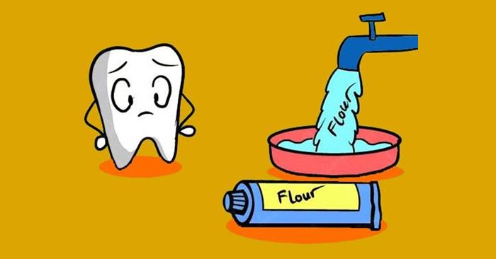 Sử dụng nguồn nước và sản phẩm có chứa nhiều fluor