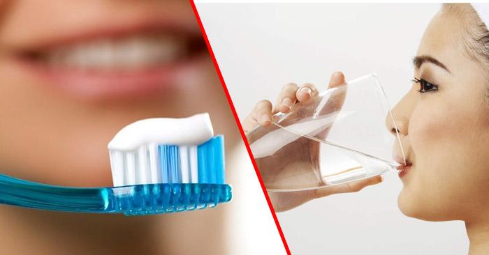 Nên súc miệng nước muối trước hay sau khi đánh răng?